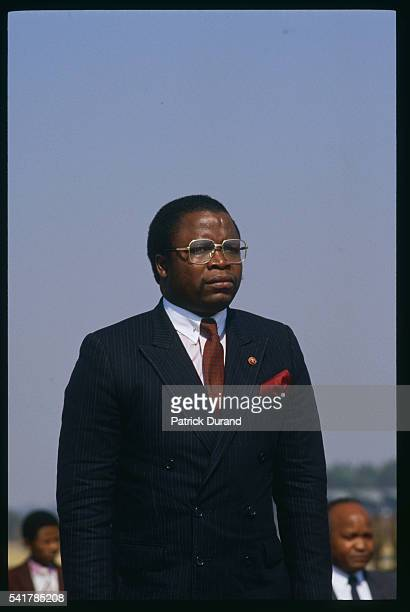 Liberian president Samuel Doe attends the eighth Summit of NonAligned Countries Driven by the need to affirm their political voice after the Cold War...
