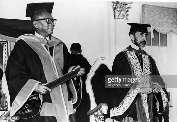 Liberian president William TUBMAN and Ethiopian emperor Haile SELASSIE