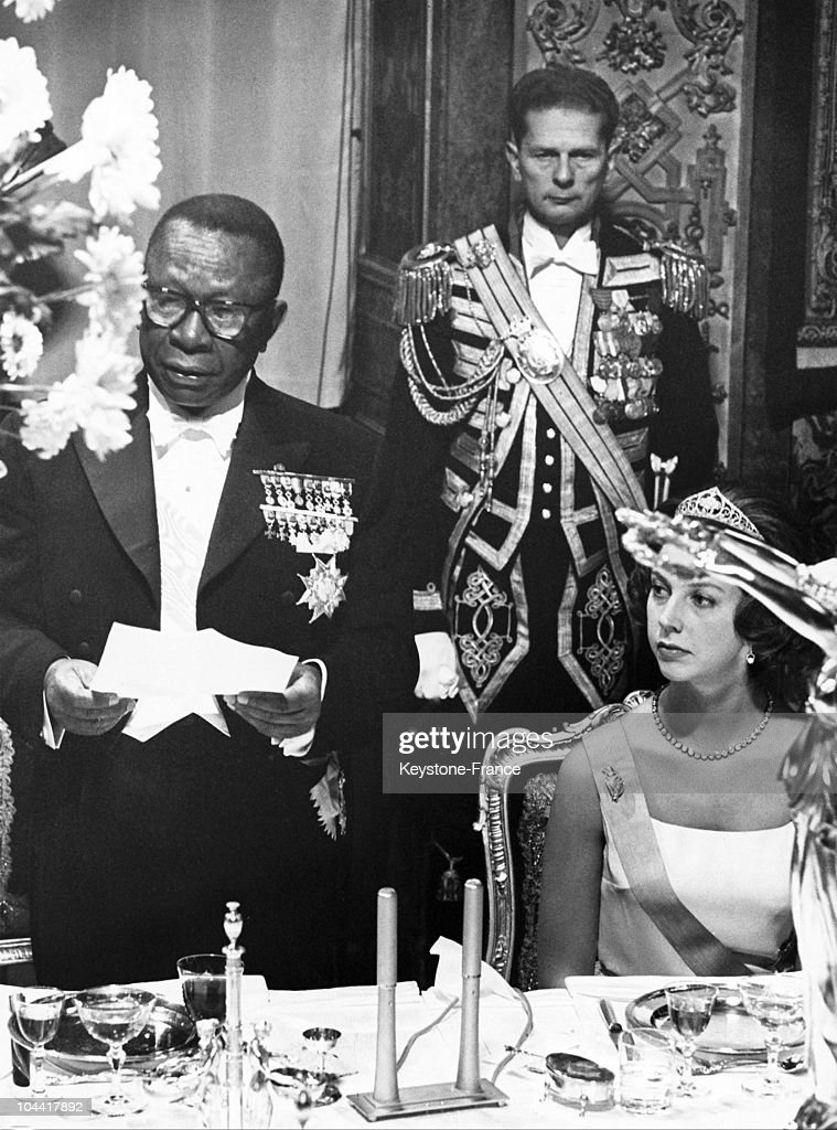 William Tubman And Princess Desiree Of Sweden In Stockholm 1962 : News Photo