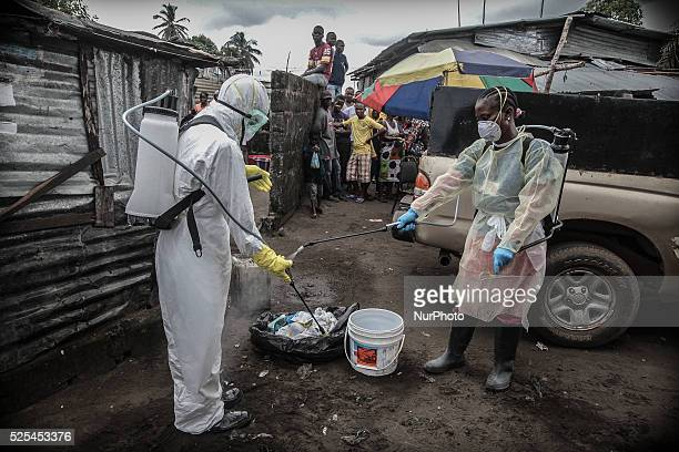 Liberian Red Cross ampquotburialampquot team in Monrovia Liberia on October 14 2014 The worstever Ebola epidemic has already claimed more than 4000...