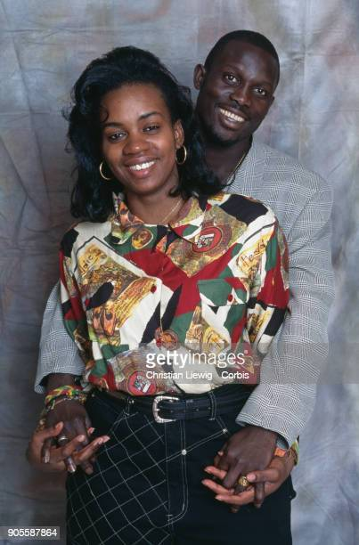 Liberian Soccer Player George Weah and his wife Clar