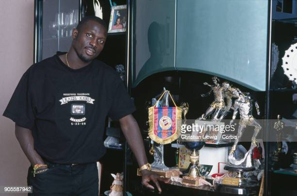Liberian Soccer Player George Weah at home