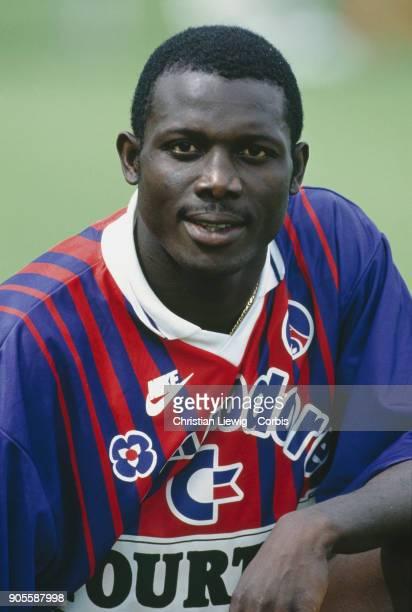 Liberian Soccer Player George Weah PSG training season 9394