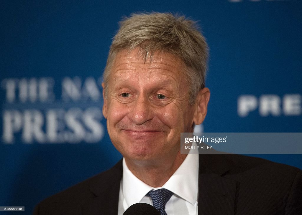 Libertarian Presidential Candidate Gary Johnson Speaks At National Press Club