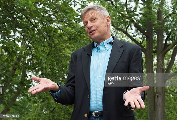 Libertarian Party presidential candidate Gary Johnson speaks to AFP during an interview in Washington, DC, on May 9, 2016. Former New Mexico Gov....