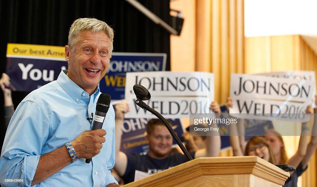 Libertarian Presidential Candidate Speaks At University Of Utah In Salt Lake City