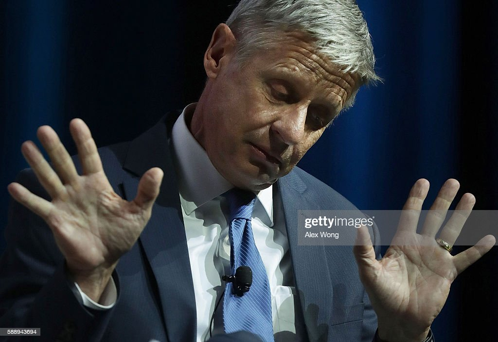 Third Party Presidential Candidates Gary Johnson And Jilll Stein Take Part In Forum At The Asian American Journalists Association Conf