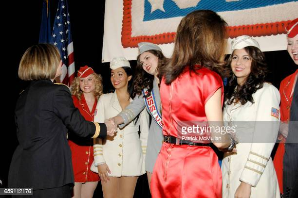USO Liberty Bells Major General Patricia D Horoho and Stephanie George attend The WOMAN OF THE YEAR USO of Metropolitan New York 43rd Annual Luncheon...