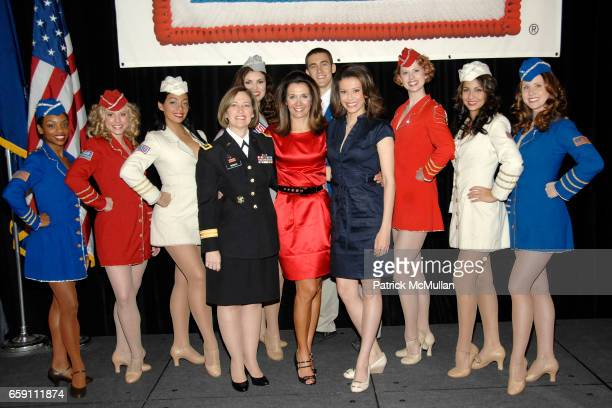 USO Liberty Bells Major General Patricia D Horoho Stephanie George and Kiran Chetry attend The WOMAN OF THE YEAR USO of Metropolitan New York 43rd...