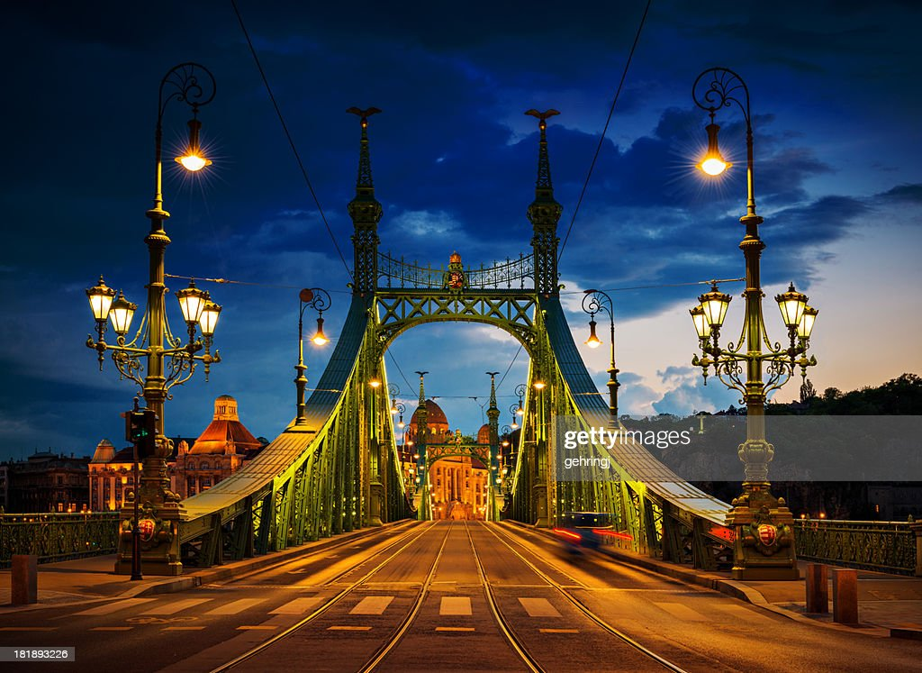 Liberty bridge, Budapest : Stock Photo