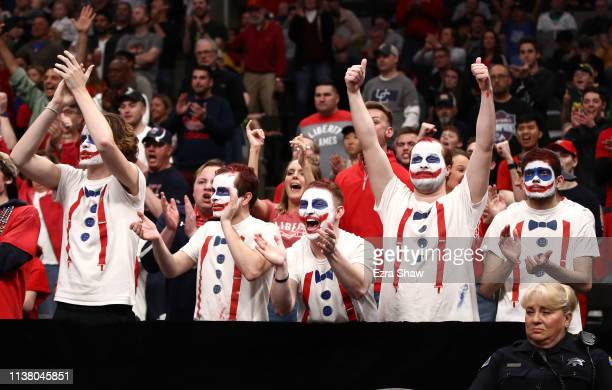 Liberty Flames fans cheer during the first half against the Virginia Tech Hokies during the second round of the 2019 NCAA Men's Basketball Tournament...