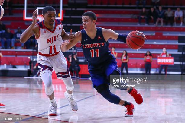 Liberty Flames guard Georgie PachecoOrtiz during the College Basketball game between the NJIT Highlanders and the Liberty Flames on March 1 2019 at...