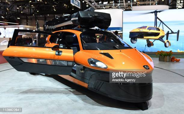 Liberty flying car is displayed during the second press day of the 89th Geneva International Motor Show in Geneva, Switzerland on March 06, 2019.