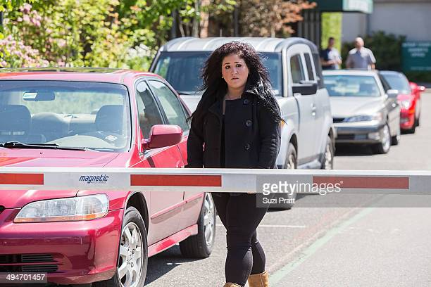Liberty Jean Kasem daughter of Casey and Jean Kasem arrives to a court hearing at Kitsap County Courthouse on May 30 2014 in Port Orchard Washington...