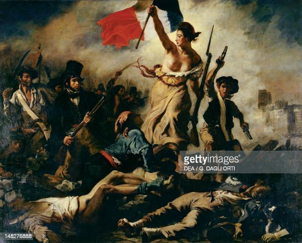 Liberty Leading the People by Eugene Delacroix oil on canvas 260x325 cm Paris Musée Du Louvre