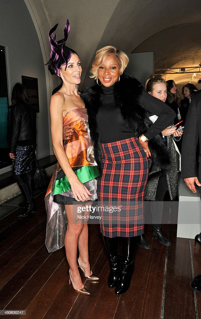 Liberty Ross and Mary J. Blige attend the private view of Isabella Blow: Fashion Galore! Party at Somerset House on November 19, 2013 in London, England.