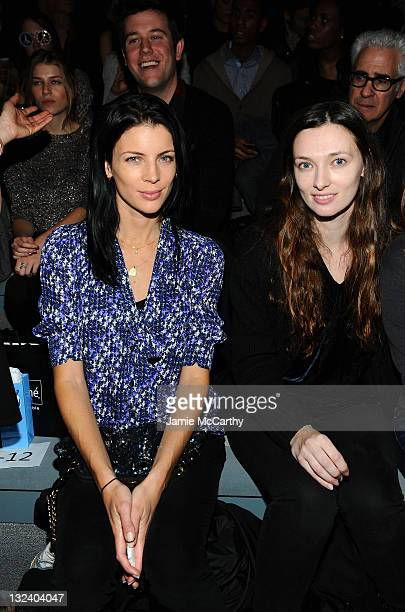 Liberty Ross and model Kate Elson attend the Charlotte Ronson Fall 2011 Fashion show presented by Diet Pepsi during MercedesBenz fashion week at The...