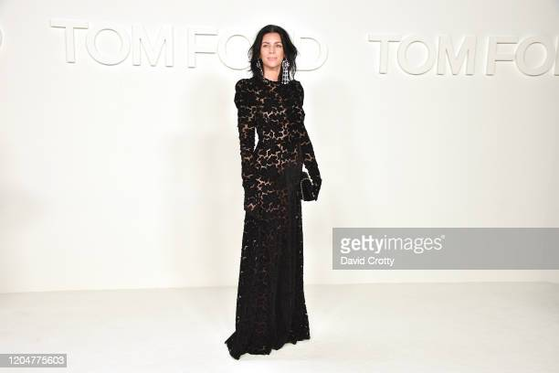 Liberty Ross attends the Tom Ford AW/20 Fashion Show at Milk Studios on February 07, 2020 in Los Angeles, California.