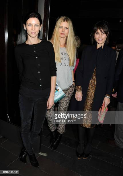 Liberty Ross Laura Bailey and Sheherazade Goldsmith attend an after party celebrating Press Night of 'Death And The Maiden' at Mint Leaf Restaurant...