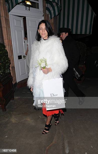 Liberty Ross sighting at Harry's Bar on March 14 2013 in London England