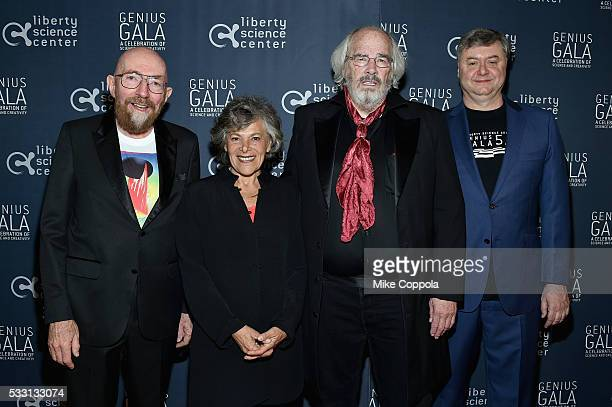 Liberty Science Center President and CEO Paul Hoffman with Genius Award Honorees Physicist Kip Thorne Professor Ellen Langer and Paleontologist Jack...