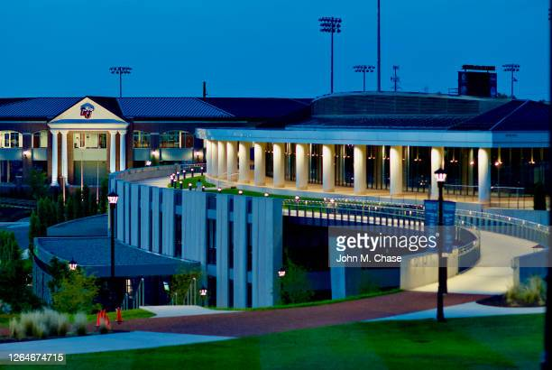 liberty university baseball stadium and athletic center - center athlete stock pictures, royalty-free photos & images