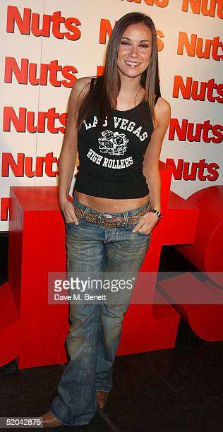 Liberty X singer Jessica Taylor attends the 1st Birthday party for Nuts Magazine at Trap Wardour Street on January 20 2005 in London