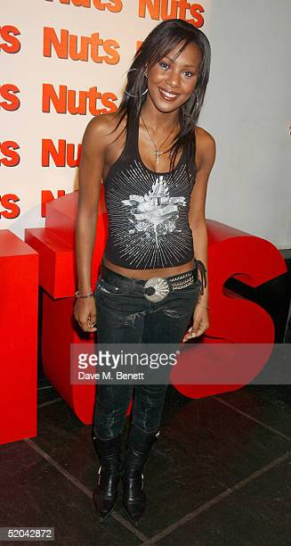 Liberty X singer Kelli Young attends the 1st Birthday party for Nuts Magazine at Trap Wardour Street on January 20 2005 in London
