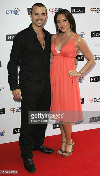 Liberty X singer Michelle Heaton and Andy ScottLee arrive at the Cystic Fibrosis Trust Breathing Life Awards on April 27 2006 in London England The...