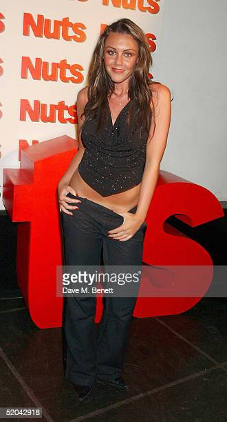Liberty X singer Michelle Heaton attends the 1st Birthday party for Nuts Magazine at Trap Wardour Street on January 20 2005 in London