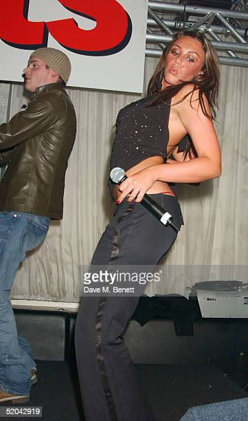 Liberty X singer Michelle Heaton performs at the 1st Birthday party for Nuts Magazine at Trap Wardour Street on January 20 2005 in London