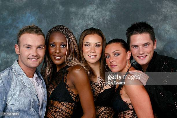 Liberty X the band created by British pop stars Kelli Jesica Michelle Kevin and Tony