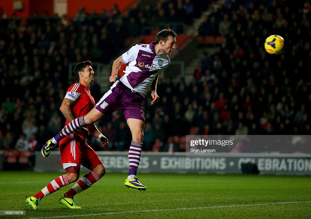 Libor Kozak of Aston Villa scores their second goal during the Barclays Premier League match between Southampton and Aston Villa at St Mary's Stadium on December 4, 2013 in Southampton, England.