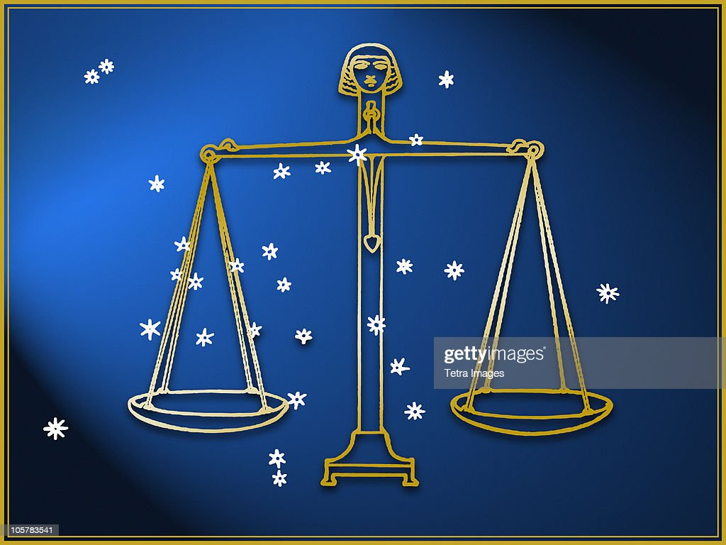 Libra Astrological Sign Stock Photo
