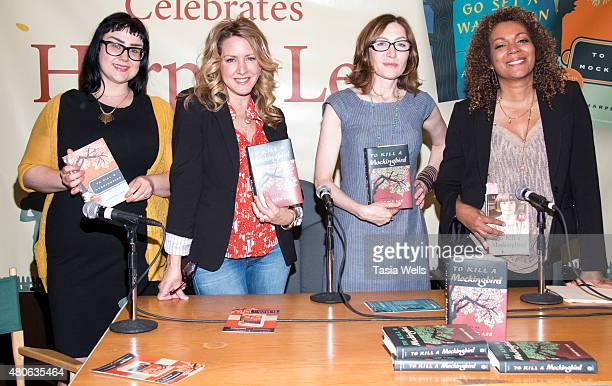 """Librarian Amy Bradley, Actress Joely Fisher, Actress Annabelle Gurwitch and Author Cynthia Bond pose for portrait at Celebrate Harper Lee: """"To Kill a..."""