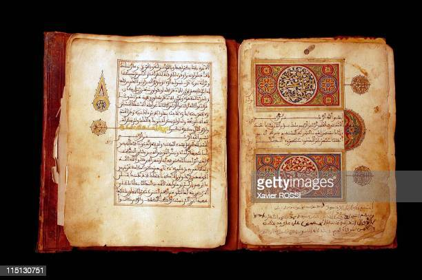 Libraries of the desert rediscovery and restoration of ancient Arab manuscripts in Bouj Beha Mali in April 2003 Manuscript from the private library...