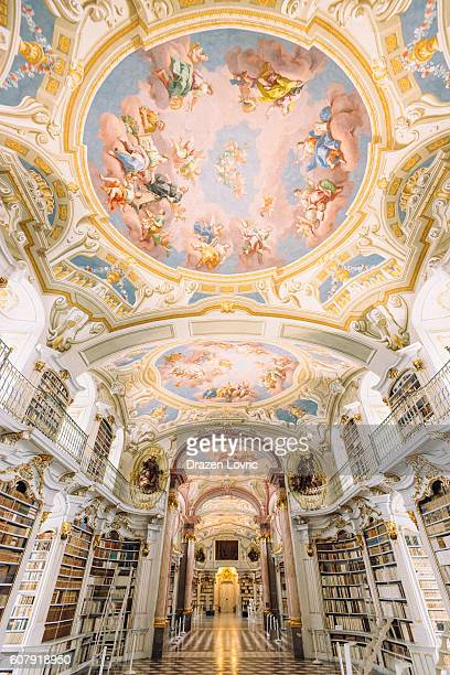 library admont abbey, austria - abbey monastery stock pictures, royalty-free photos & images