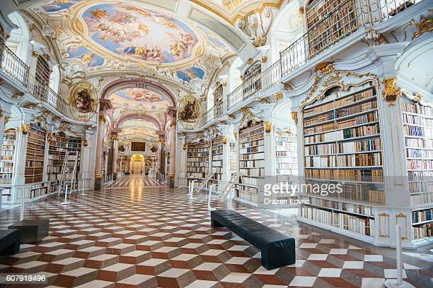 biblioteca abbazia di admont, austria - abbazia foto e immagini stock