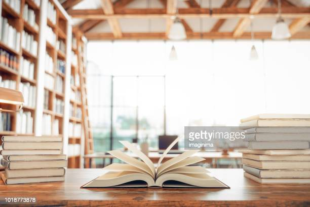 library and books - book stock pictures, royalty-free photos & images