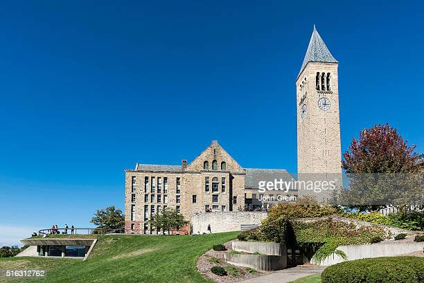 Library and McGraw bell tower on the Cornell University campus