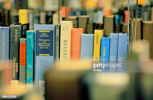 library books - literature stock photos and pictures