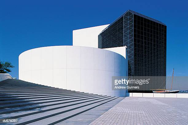 jfk library, boston, massachusetts, usa - john f. kennedy library stock photos and pictures