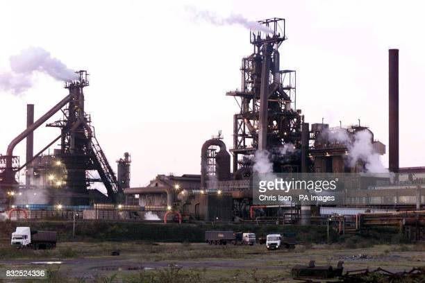 Library filer dated of the steelworks in Port Talbot South Wales owned by AngloDutch company Corus who were on the brink of Indian ownership today