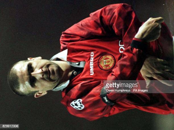 Library Filer of Eric Cantana leaving the pitch after his team Manchester United were beaten by Dortmand at Old Trafford on Wednesday night...