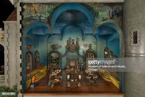 Library in Colleen Moore's Fairy Castle at the Museum of Science and Industry Chicago Illinois May 16 2014 The library is done in a sea motif Over...