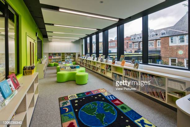Library in new building Thomas's Battersea London United Kingdom Architect Hugh Broughton Architects Limited 2017