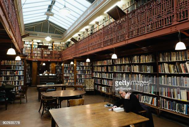 A library member reads as he sits in the New Room inside the Leeds Library on January 9 2018 in Leeds England This year sees the 250th anniversary of...