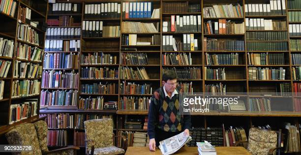 A library member stands in the Quiet Room inside the Leeds Library on January 9 2018 in Leeds England This year sees the 250th anniversary of the...