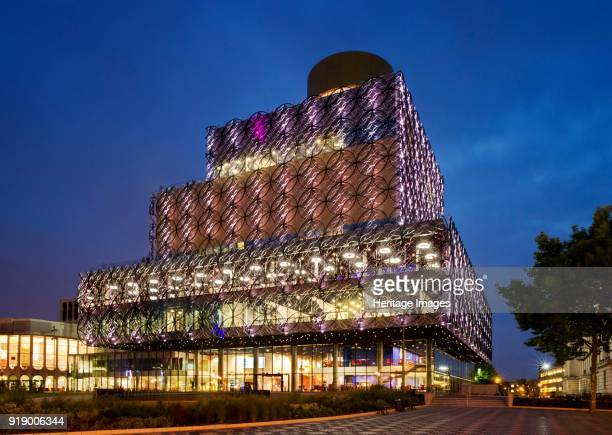 Library of Birmingham, Centenary Square, Broad Street, Birmingham, West Midlands, circa 2013. General view of the south and east elevations at...
