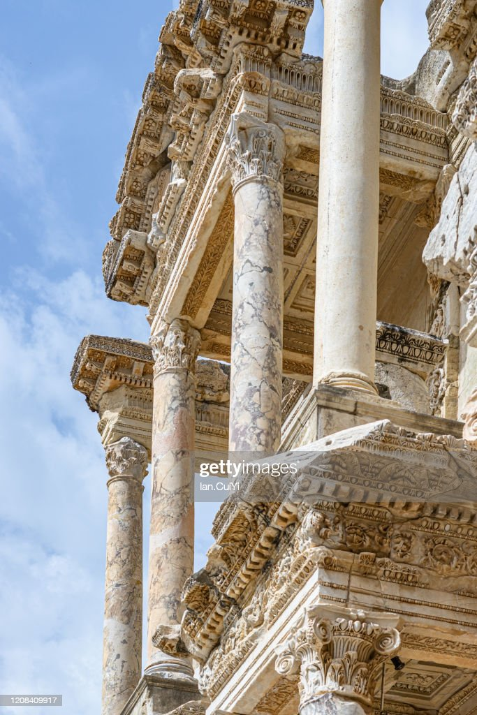 Library Of Celsus Ephesus Izmir Turkey High Res Stock Photo Getty Images